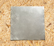 Blank square metal plate Royalty Free Stock Image