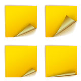 Blank square stickers with curl sets Stock Images