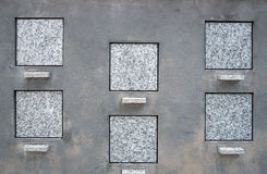 Blank square tombstones. Ready for your inscription Royalty Free Stock Images
