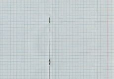 Blank squared notebook sheet Stock Photo