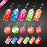 Set of tags for sale. Royalty Free Stock Image