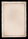 Blank stamp. On black borde Royalty Free Stock Images