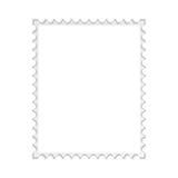 Blank Stamp Frame Stock Photo