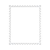Blank stamp frame Stock Photo