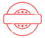 Blank Stamp Royalty Free Stock Photo