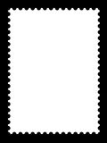 A blank stamp template. S ready to be filled with your photos Royalty Free Stock Images