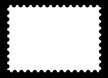 Blank stamp template on black. A blank customizable white stamp on black background Royalty Free Stock Photography
