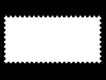 A blank stamp templates. Ready to be filled with your photos Royalty Free Stock Image