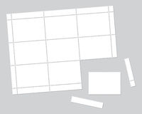 Blank stamps set Stock Photos