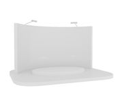 Blank Stand isolated on white. 3d illustration Royalty Free Stock Photo