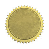 Blank Star Gold Seal Stock Photo