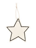 Blank star price hanger Stock Photos