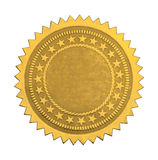 Blank Star Seal royalty free stock photo