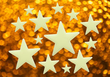 Blank stars on blur background. In closeup Royalty Free Stock Photo