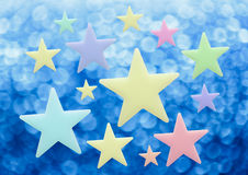 Blank stars on blur background. In closeup Stock Photography
