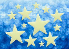 Blank stars on blur background. In closeup Royalty Free Stock Images