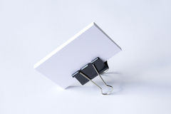 Blank stationery with clipping path  on white Royalty Free Stock Image