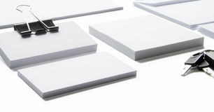 Blank stationery with clipping path  on white Royalty Free Stock Photography