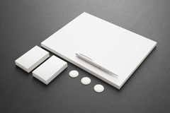 Blank Stationery / Corporate ID Set Royalty Free Stock Photos