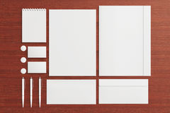 Blank Stationery / Corporate ID Set Stock Images