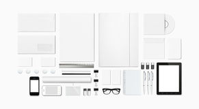 Blank Stationery / Corporate ID Template Royalty Free Stock Photo