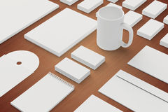Blank Stationery and Corporate ID Template Royalty Free Stock Photography