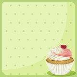 A blank stationery with a cupcake Stock Images