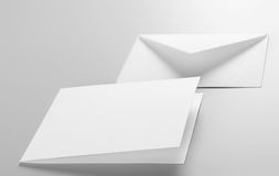 Blank stationery: envelope, postcard Royalty Free Stock Image