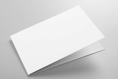 Blank stationery: folded card Stock Images