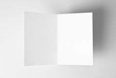 Blank stationery: open card over grey background Royalty Free Stock Photography