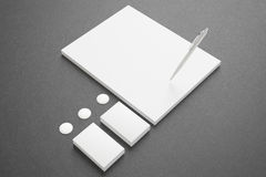 Blank Stationery Set Stock Photo