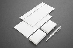 Blank Stationery Set Stock Image