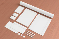 Blank Stationery Set Royalty Free Stock Image