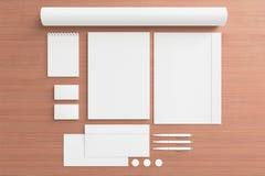 Blank Stationery Set Stock Images