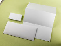 Blank stationery Stock Images