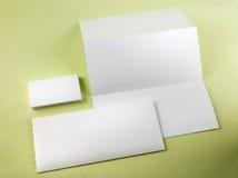Blank stationery set Royalty Free Stock Images