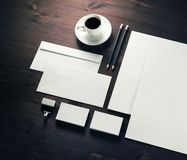 Blank stationery set stock photos