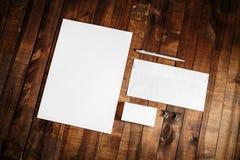 Blank stationery set Royalty Free Stock Photo