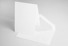Blank stationery: standing card and envelope Stock Image