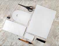 Blank stationery template Royalty Free Stock Images