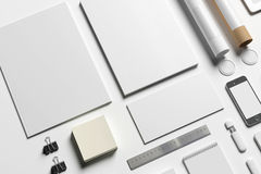 Blank stationery to replace your design Royalty Free Stock Image