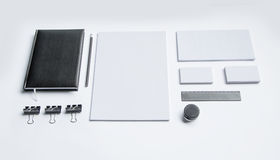 Blank Stationery  on white Stock Images