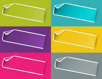 The blank sticker set Royalty Free Stock Photography