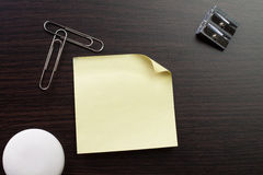 Blank sticker and stationery Stock Photography