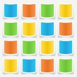 Blank Sticker Web Buttons Stock Photos