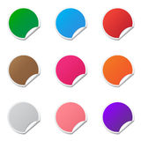 Blank stickers. Blank discount stickers in various colors Royalty Free Stock Image