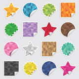 Blank stickers Royalty Free Stock Images