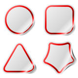 Blank stickers with color frame. Royalty Free Stock Photos