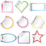 Blank stickers with curled corners Royalty Free Stock Images