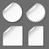 Blank stickers set Stock Photos
